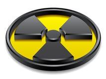 glänzendes Symbol der Strahlung 3d Stockfotos