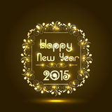 Glänzendes Textdesign für guten Rutsch ins Neue Jahr-Feier 2015 Stockfotografie