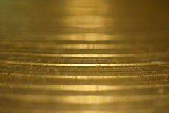 Glänzendes Trommelmetallplattemakro Stockfotografie
