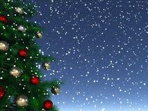Glänzendes Weihnachten Stockbild
