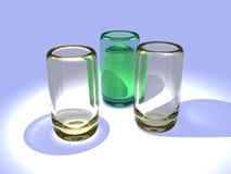 Gläser stock abbildung