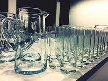 Gläser Stockbild