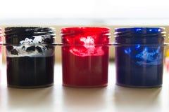 Gläser Acrylfarbe Stockfotografie