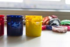 Gläser Acrylfarbe Lizenzfreies Stockfoto