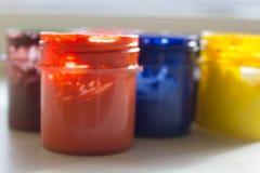 Gläser Acrylfarbe Stockbilder