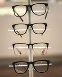 Gläser auf Anzeige Lizenzfreies Stockbild