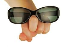 Gläser auf einer womanish Hand Stockfotografie