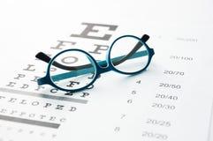 Gläser auf Sehtafel Lizenzfreie Stockbilder