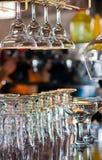 Gläser auf Stabzählwerk Stockfoto