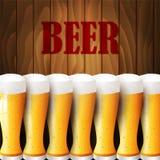 Gläser Bier Stockfotografie