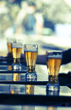 Gläser Bier Stockfoto