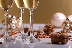 Gläser Champagner Lizenzfreies Stockfoto