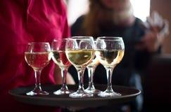 Gläser Champagner Lizenzfreie Stockbilder