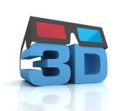 Gläser 3d lokalisierten Illustration 3d lizenzfreie abbildung