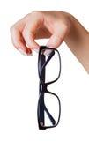 Gläser in der Hand getrennt Lizenzfreies Stockfoto