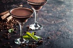 Gläser des Kaffeecocktails stockfotografie