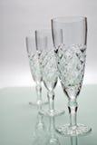 Gläser drei Champagne Lizenzfreie Stockfotos