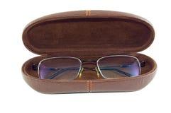 Gläser in einem Fall Lizenzfreies Stockfoto