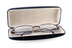 Gläser in einem Fall Stockfotos