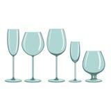 Gläser für alkoholische Getränke Stockfotografie