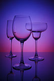 Gläser für Getränke Stockfotos