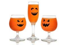 Gläser für Halloween Stockfotos