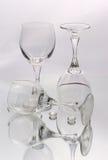 Gläser für Wein Stockfotografie