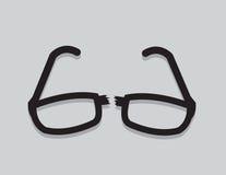 Gläser gebrochen stock abbildung