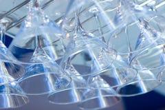 Gläser gedreht stockbilder