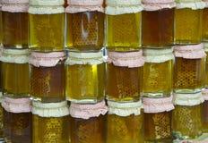 Gläser Honig Lizenzfreie Stockfotos