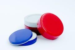 Gläser kosmetische Creme Lizenzfreie Stockfotografie