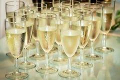 Gläser mit Champagner Lizenzfreies Stockbild