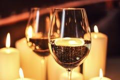 Gläser mit Champagner Lizenzfreie Stockbilder