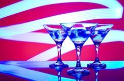 Gläser mit Cocktail in einem Nachtklub Lizenzfreies Stockbild