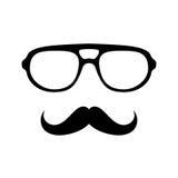 Gläser mit dem Schnurrbart stock abbildung