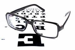 Gläser mit TABELLEN-ÜBERPRÜFUNG DER ANSICHT Lizenzfreies Stockbild