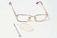 Gläser mit Teilen Stockbilder