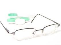 Gläser mit wenigem Kasten Objektiven Lizenzfreie Stockfotografie