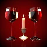 Gläser Rotwein Lizenzfreie Stockbilder