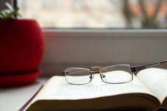 Gläser und Bücher Lizenzfreie Stockbilder
