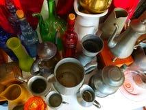 Gläser und Flaschen lizenzfreies stockfoto