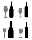 Gläser und Flaschen Stockfotos