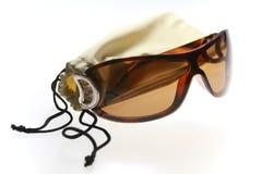 Gläser und glassesetui lizenzfreie stockfotografie