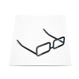 Gläser und Papier Lizenzfreies Stockbild