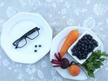 Gläser und Produkte stockfoto