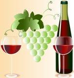 Gläser und Wein Lizenzfreie Stockfotos