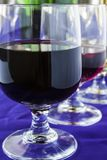 Gläser verschiedene Weine lizenzfreies stockfoto