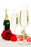 Gläser von Champagne Lizenzfreies Stockfoto