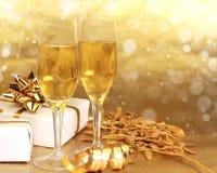 Gläser von Champagne Lizenzfreie Stockbilder