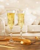 Gläser von Champagne Stockfotos